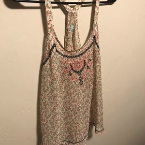 Maurices Tops - 🌻Free🌻 w/Bundle Maurices Sheer Floral Racerback